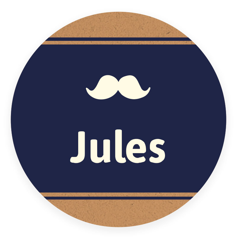 Sticker rond Jules