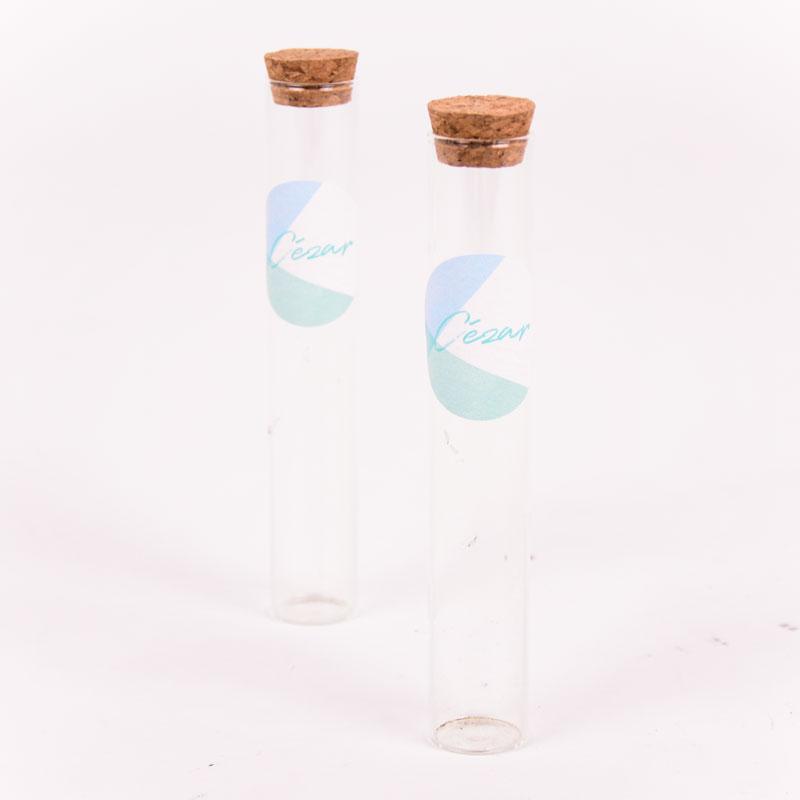 Glazen tube met sticker Cézar