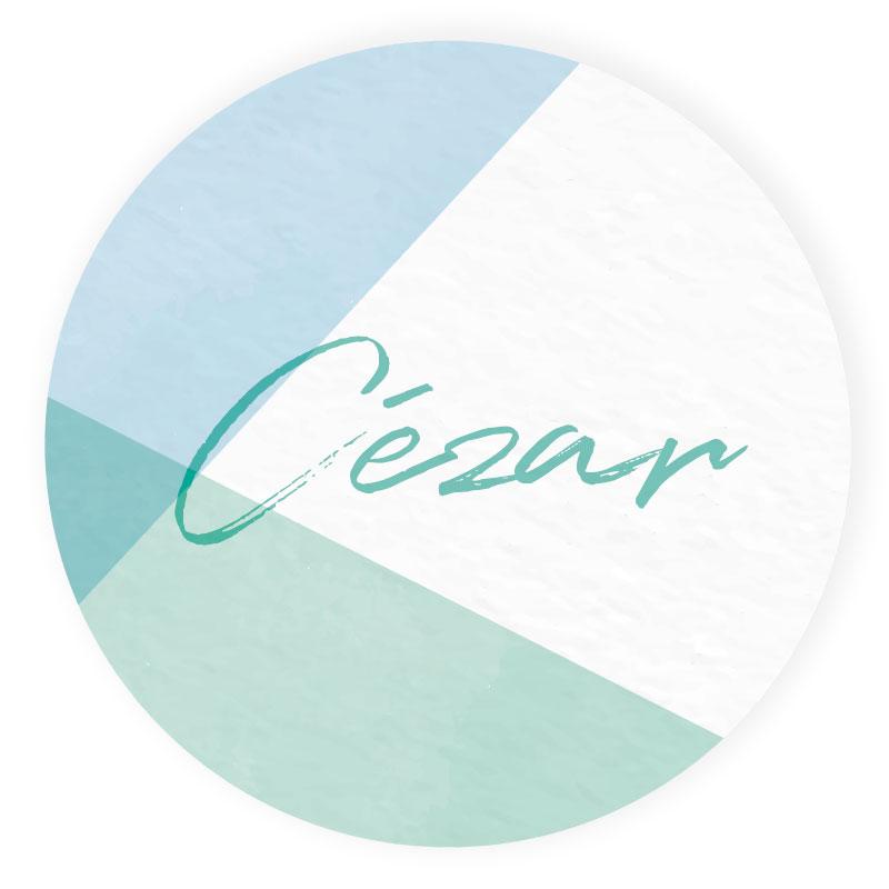 Sticker rond Cézar