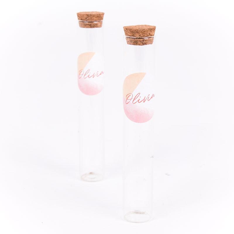 Glazen tube met sticker Olivia