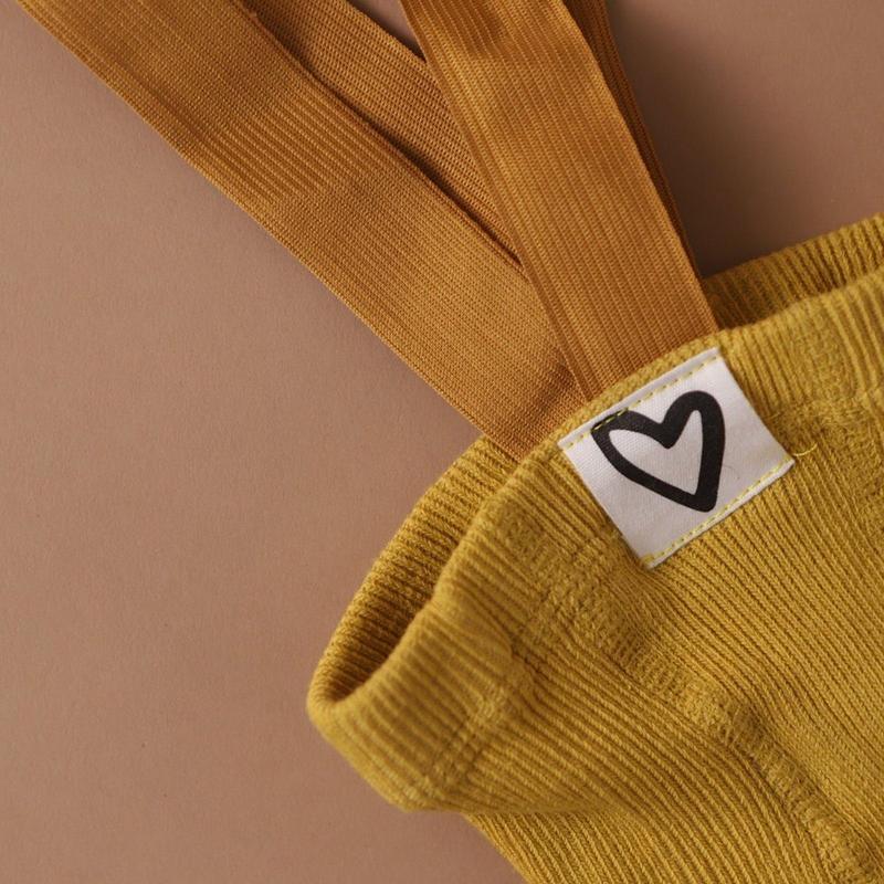 La Romi Baby tuinbroek mustard 0-12 maand