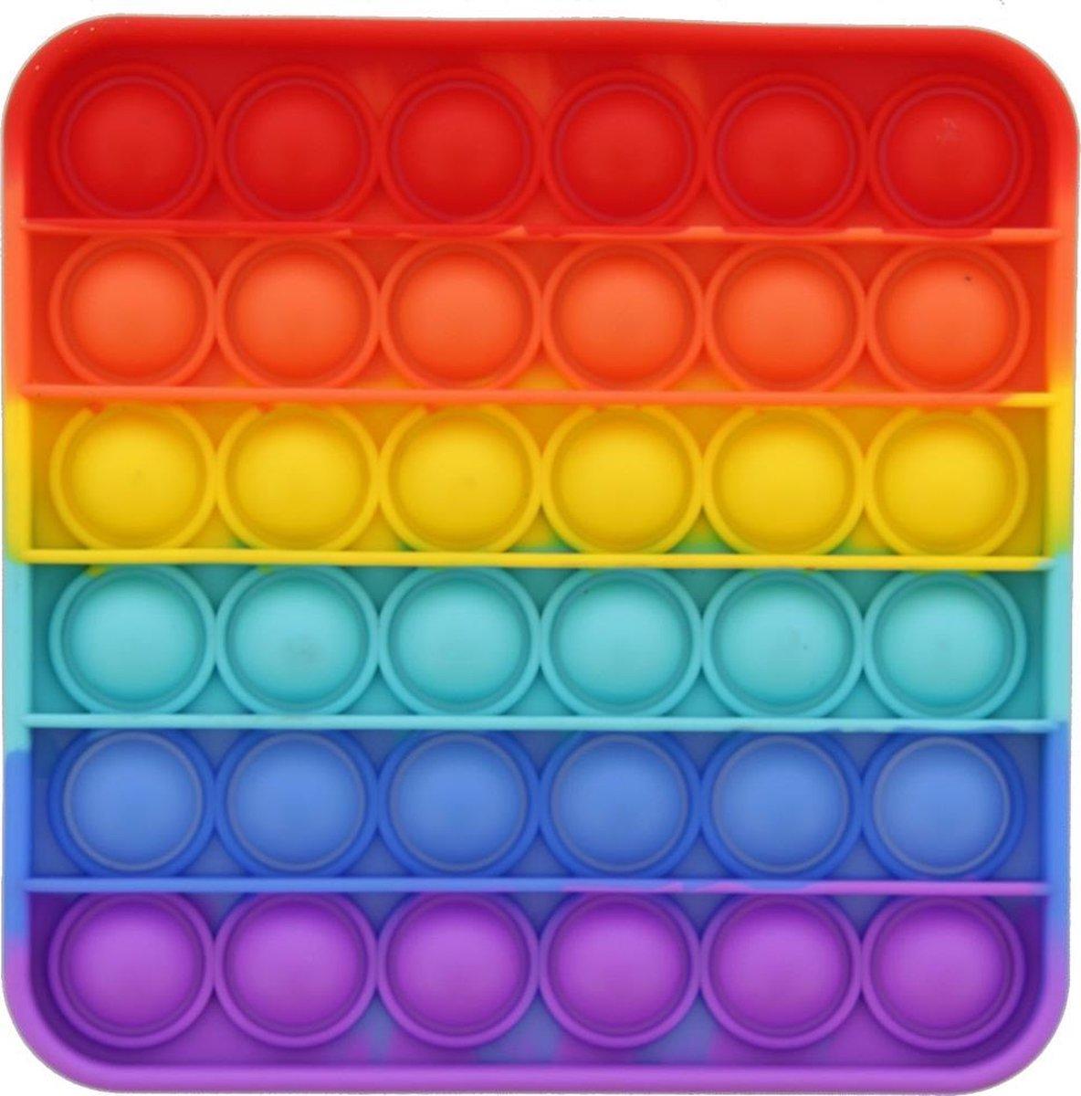 Pop it Bubble - regenboog vierkant