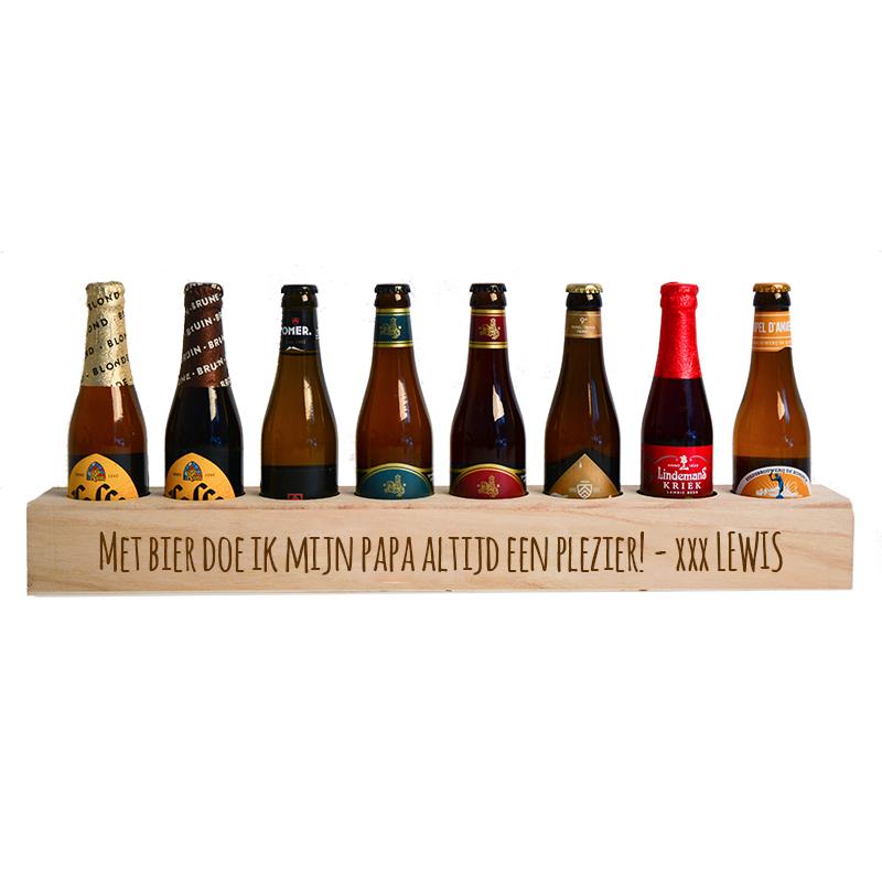 Vaderdag Biermeter incl. 8 bierflesjes - Bierplezier