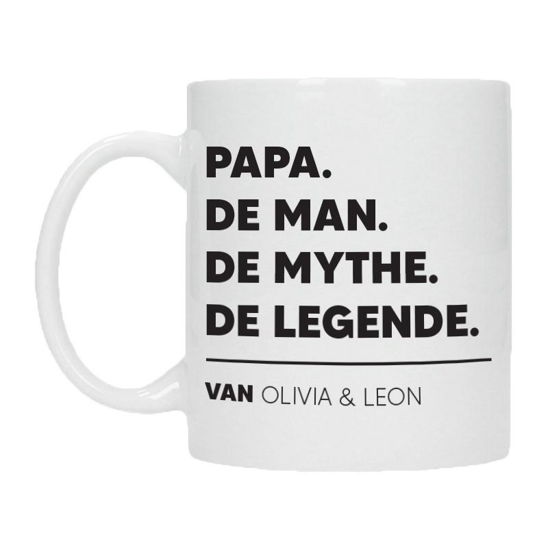 Gepersonaliseerde Vaderdag Mok  - De man, de mythe, de legende