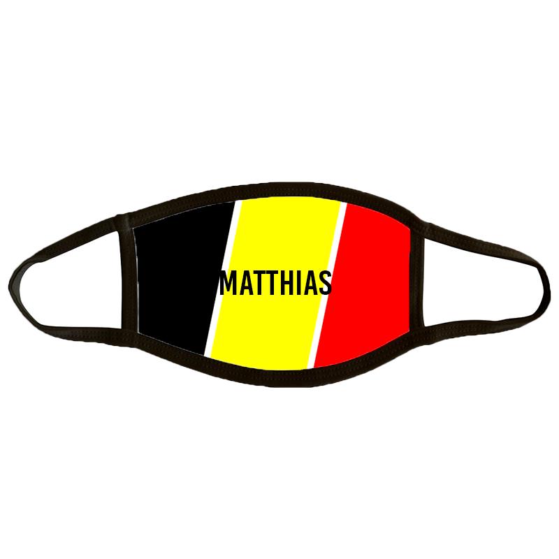 Mondmasker Medium 'Belgische Vlag'