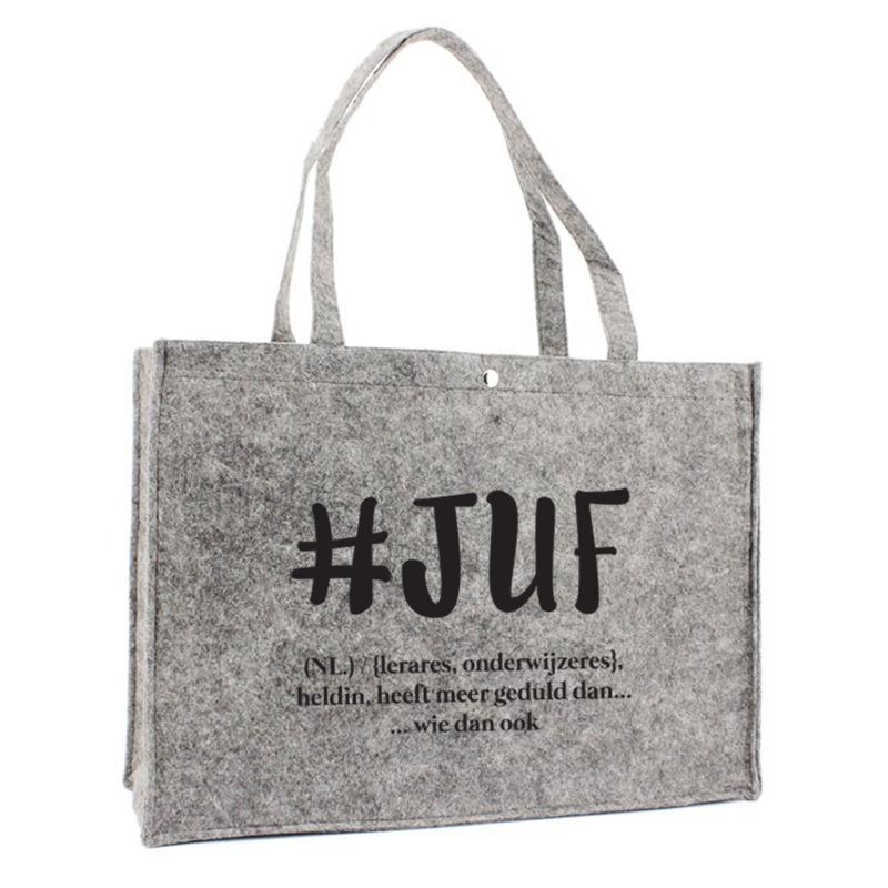 Juf Vilten Luxe Tas - #juf