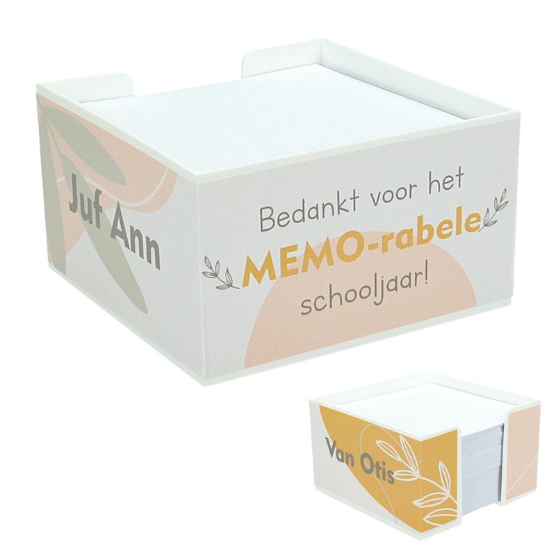 Memoblok Juf/Meester - Bedankt voor het MEMO-rabele schooljaar - Botanical