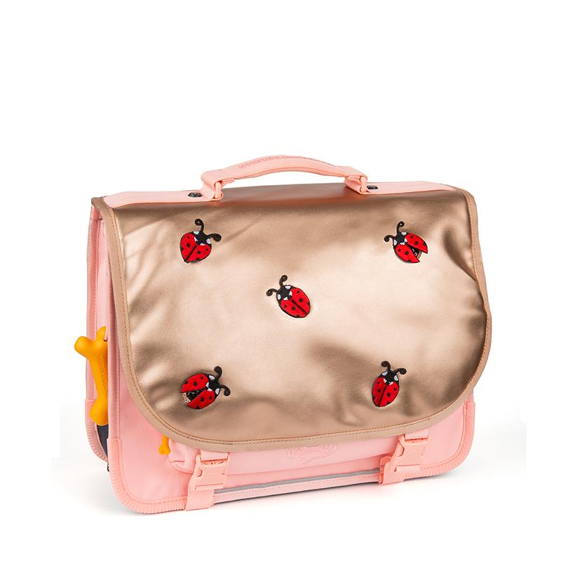 Stones and Bones Boekentas Lily Ladybugs Roze (Small)