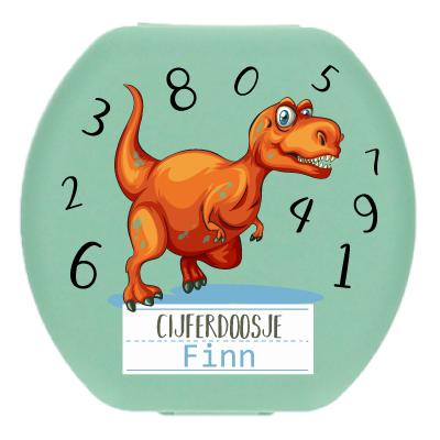 Boîte aux chiffres avec nom - Dinosaure