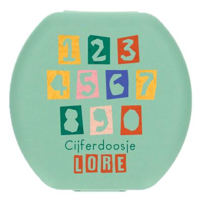 Boîte aux chiffres avec nom - Blocks