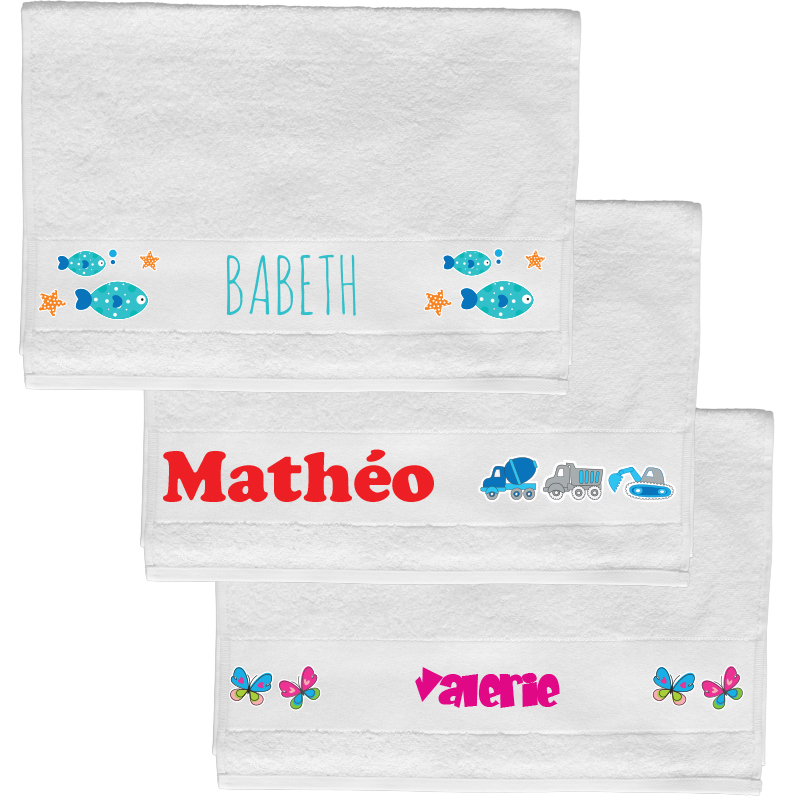 Towel with name (50 x 100 cm)