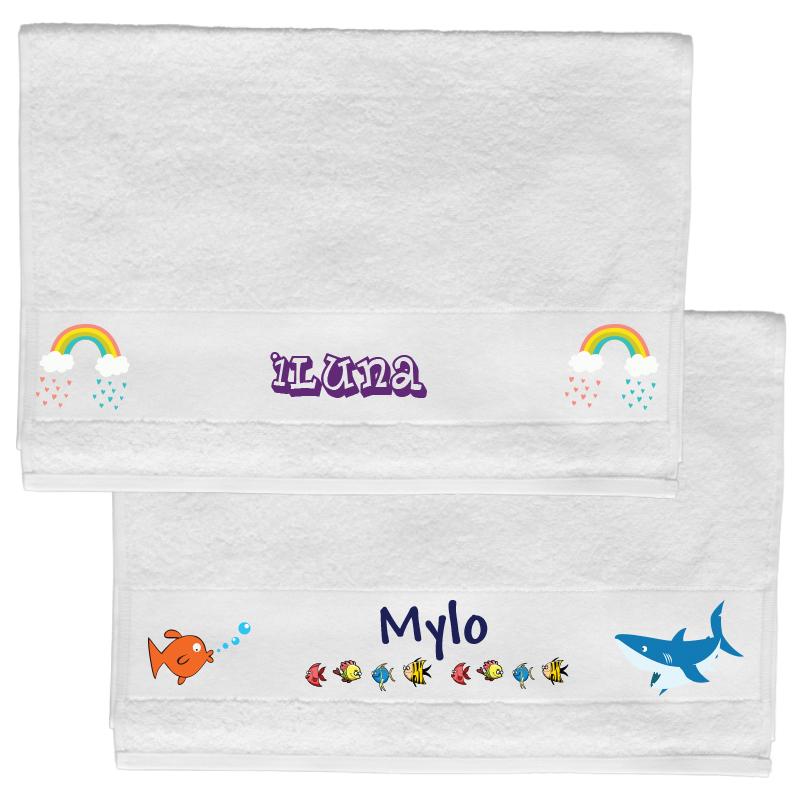 Handdoek met naam (70 x 140 cm)