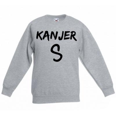 Sweater met letter - Kanjer (Ashgrey)