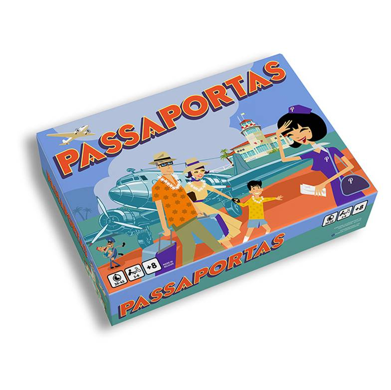 Passaportas - vintage aviation board game