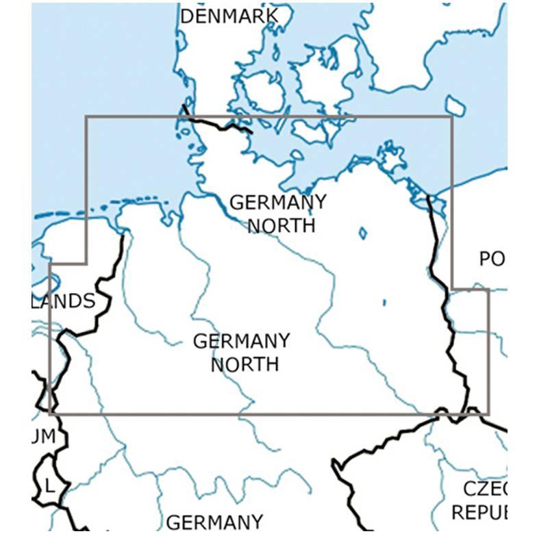 Blattschnitte-Deutschland-Nord-ICAO-VFR-Karte-Sichtflugkarte-Luftfahrtkarte-Rogers-Data-500k