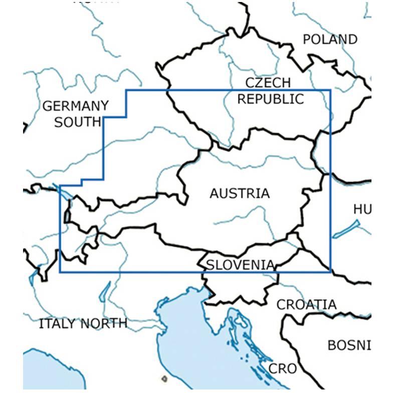 Blattschnitte-Österreich-ICAO-VFR-Karte-Sichtflugkarte-Luftfahrtkarte-Rogers-Data-500k