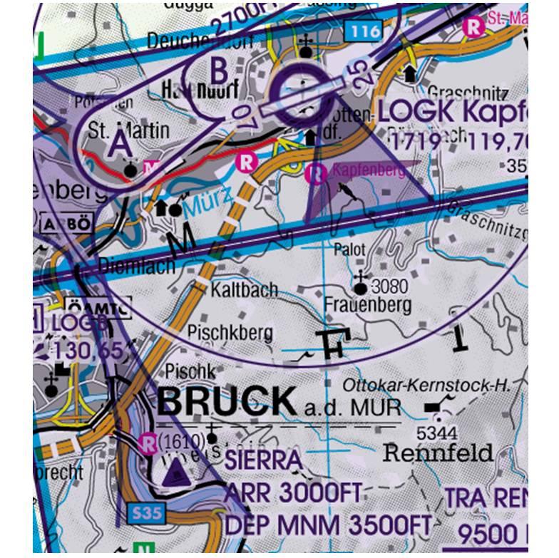 Austria-Rogers-Data-200k-Sichtflugsektor-VFR-Sectoren-bei-Flugplätzen-RGB