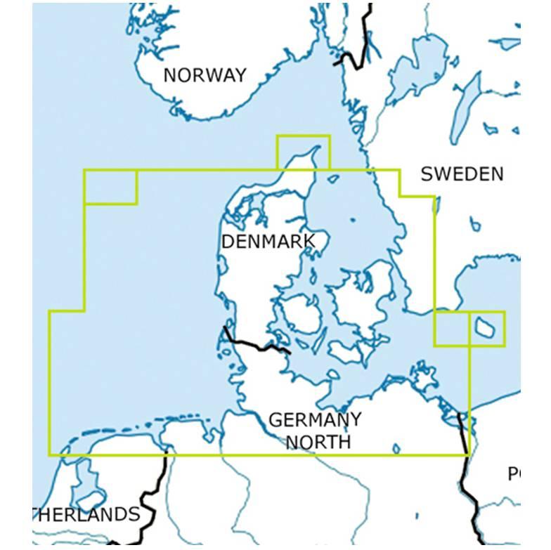 Blattschnitte-Dänemark-ICAO-VFR-Karte-Sichtflugkarte-Luftfahrtkarte-Rogers-Data-500k