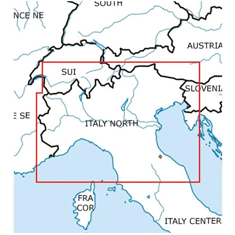 Blattschnitte-Italien-Nord-ICAO-VFR-Karte-Sichtflugkarte-Luftfahrtkarte-Rogers-Data-500k