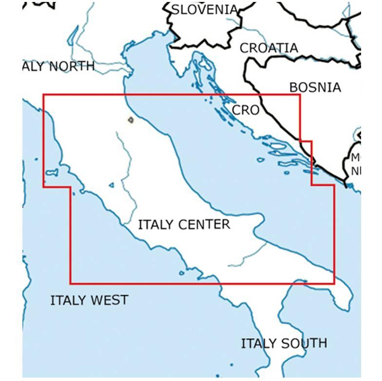 Blattschnitte-Italien-Zentrum-ICAO-VFR-Karte-Sichtflugkarte-Luftfahrtkarte-Rogers-Data-500k