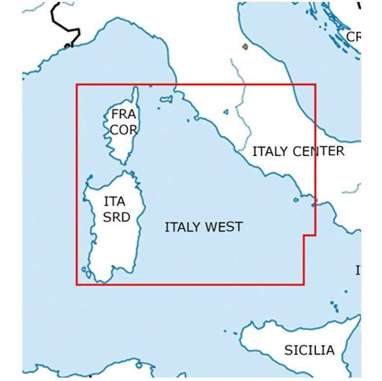 Blattschnitte-Italien-West-Sardinien-Korsika-ICAO-VFR-Karte-Sichtflugkarte-Luftfahrtkarte-Rogers-Dat
