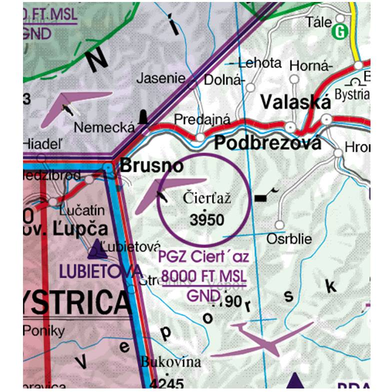 Slovakia-Rogers-Data-500k-Luftsportgebiet-Aerial-Sporting-and-Recreational-Activities-RGB
