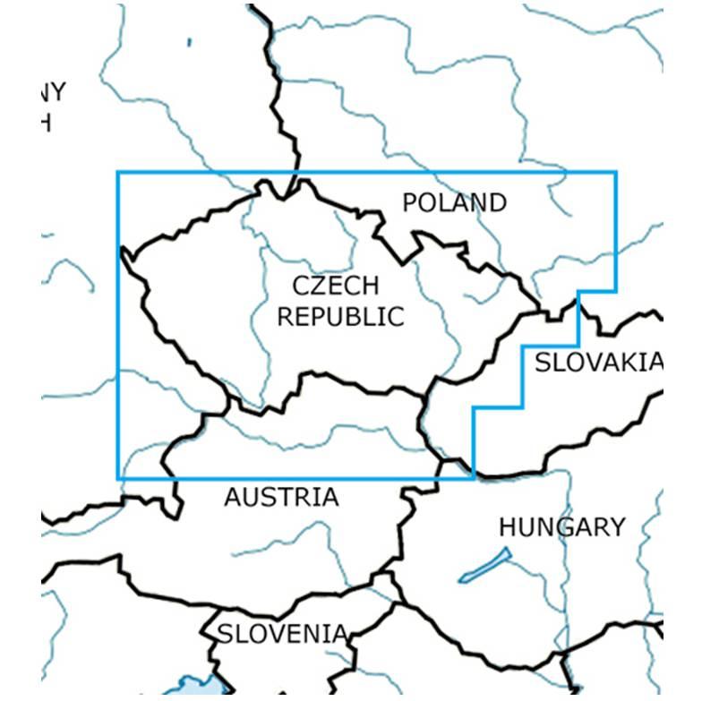 Blattschnitte-Tschechien-ICAO-VFR-Karte-Sichtflugkarte-Luftfahrtkarte-Rogers-Data-500k