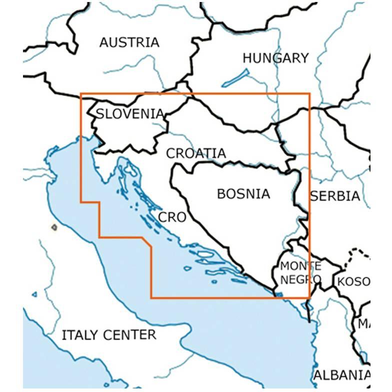 Blattschnitte-Kroatien-ICAO-VFR-Karte-Sichtflugkarte-Luftfahrtkarte-Rogers-Data-500k