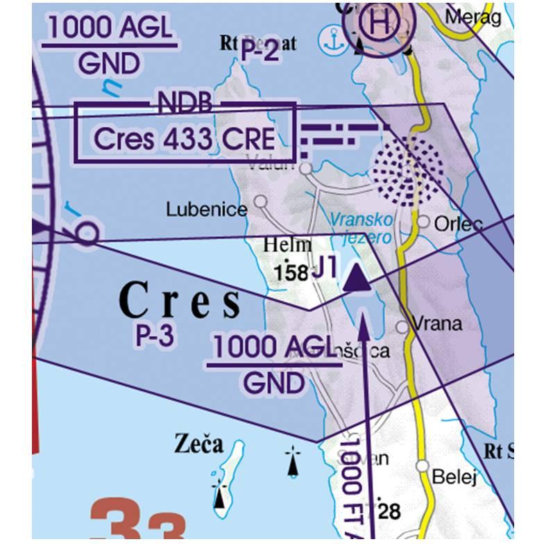 Croatia-Rogers-Data-500k-Militärische-Tiefflugstrecke-Low-Level-Military-Flight-Corridors-and-traini