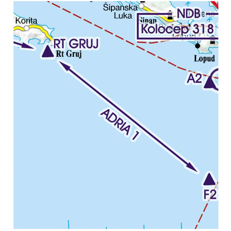 Croatia-Rogers-Data-500k-Sichtflugstrecke-Recommended-VFR-Routes-RGB