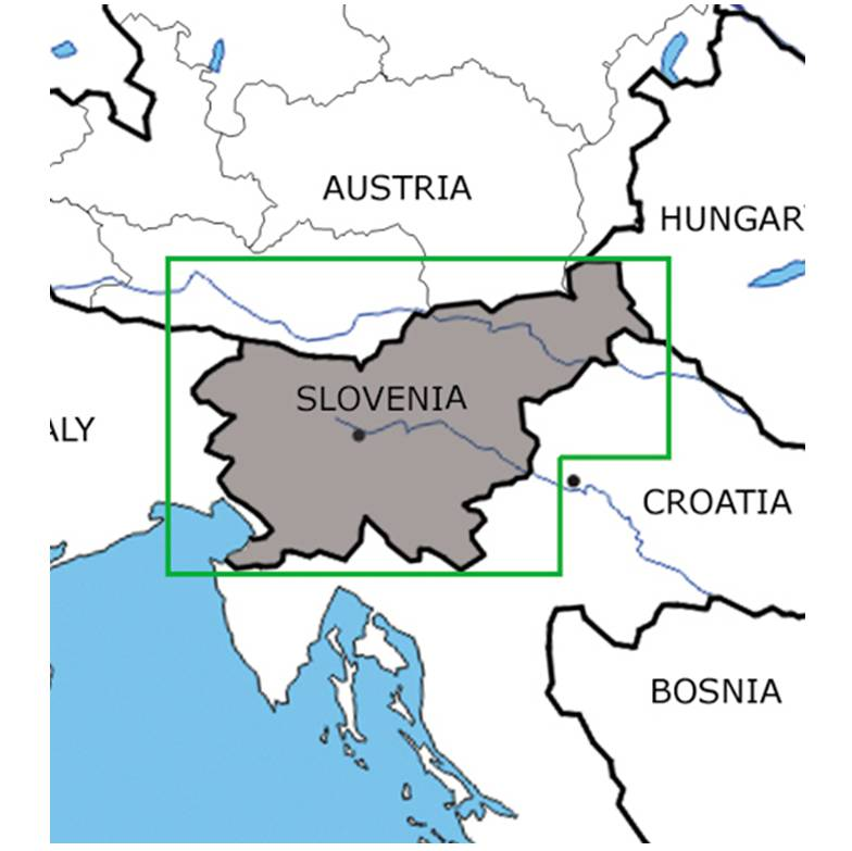 Blattschnitte-Sloweniene-ICAO-VFR-Karte-Sichtflugkarte-Luftfahrtkarte-Rogers-Data-200k