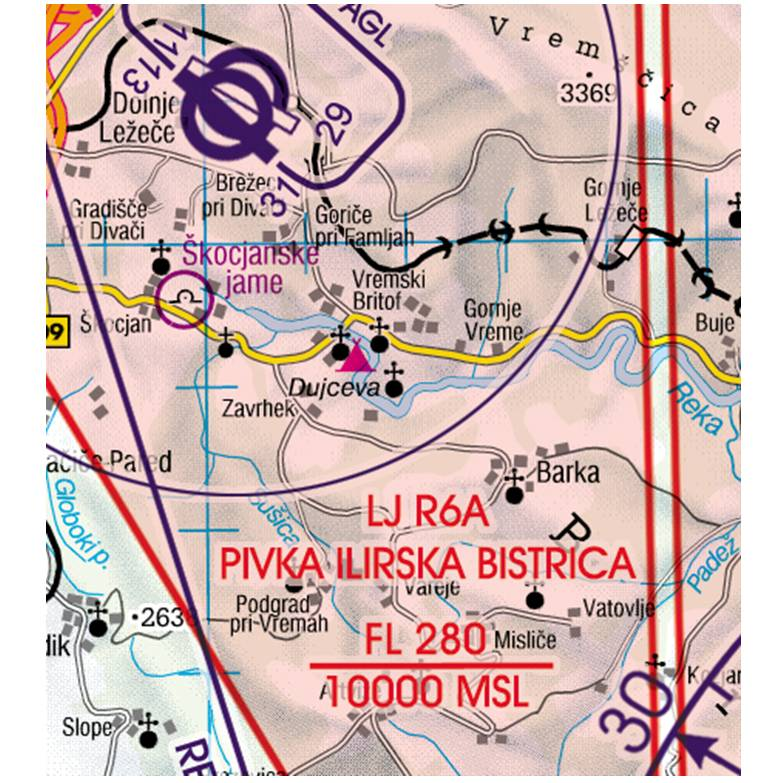 Slovenia-Rogers-Data-200k-Gefahrengebiet-Luftsperrgebiet-Flugbeschränkungsgebiet-Prohibited-Restrict