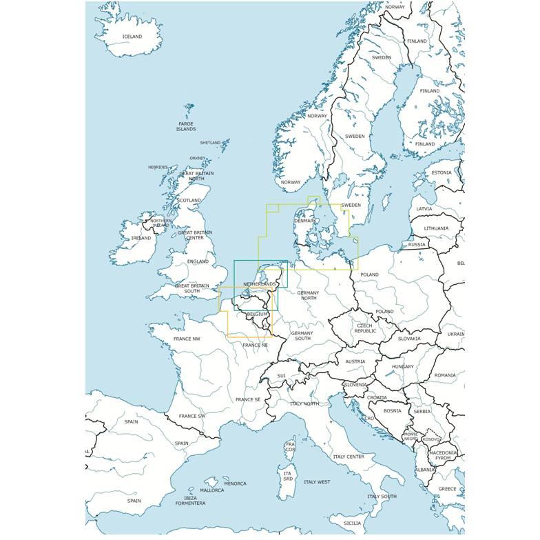 Blattschnitte Coverage Rogers Data 1_500 000 Denmark_Netherlands_Belgium&Luxembourg CMYK
