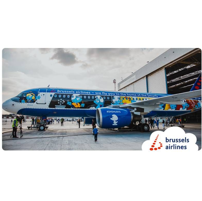 Brussels Airlines Aerosmurf OO-SND scale models € 30,00 add to cart
