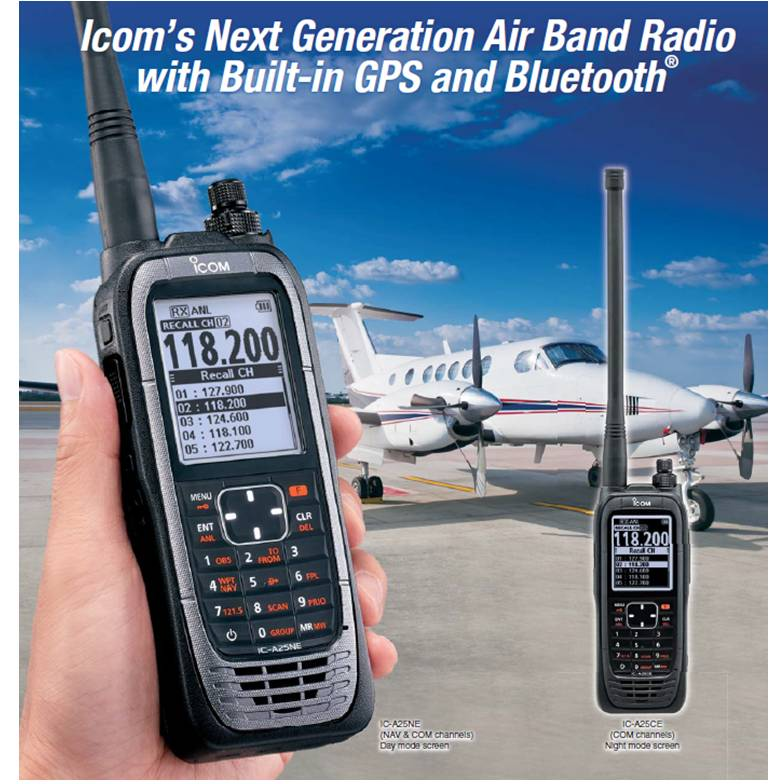 ICOM IC-A25CE portable transceiver - advertisement