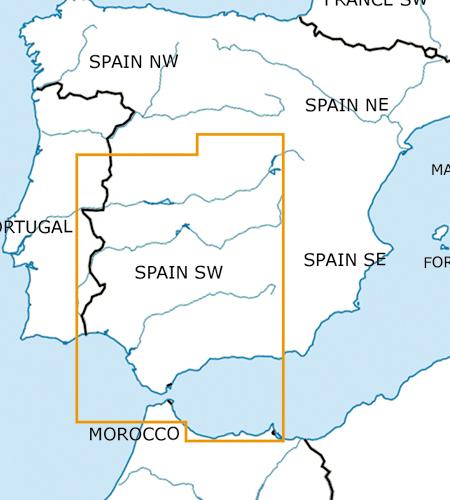 Spanien-Süd-West-VFR-Luftfahrtkarte-–-ICAO-Karte-500k-2019