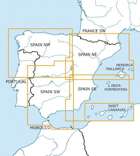 Spanien-VFR-Luftfahrtkarte-ICAO-Karte-500k-2019