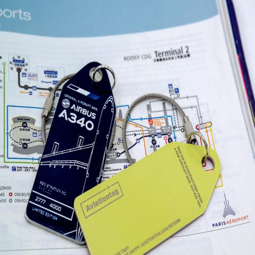 Aviationtag Airbus A340 – F-GLZI (blue) 3