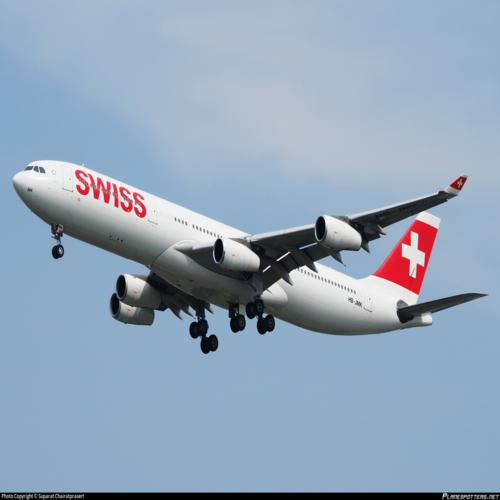 Aviationtag Swiss Airbus A340 – HB-JMK (white) 4
