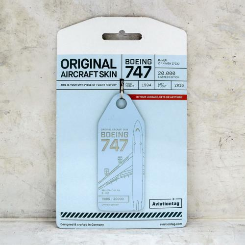 Aviationtag Boeing 747 – B-HUI (lightblue) 1