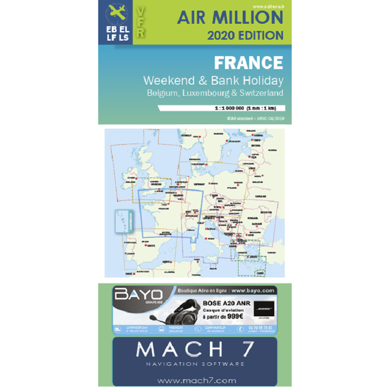 Air Million France Weekend and Bank Holiday VFR - version 2020