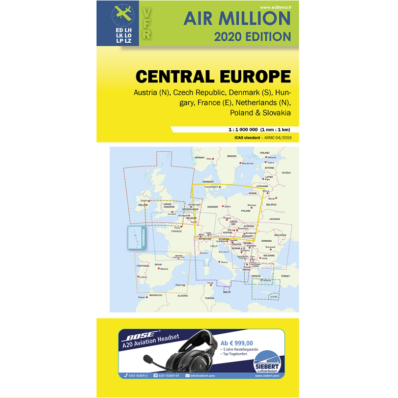 Air Million Germany and Central Europe VFR - version 2020