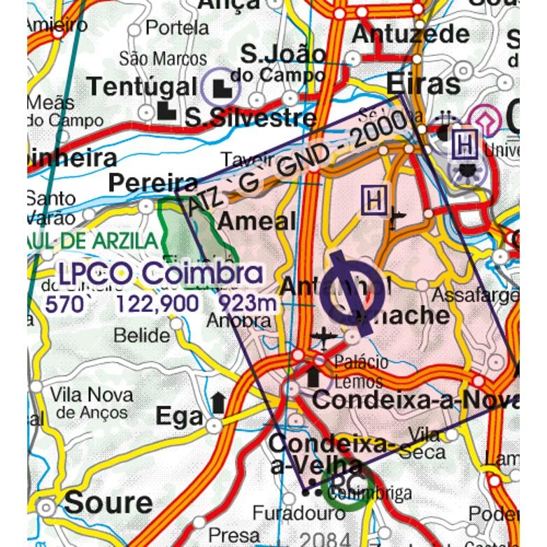 Portugal Aeronautical Chart ATZ aerodorme traffic zones