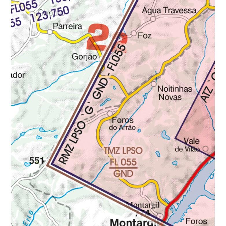 Portugal VFR Aeronautical Chart  TMZ transponder mandatory zone