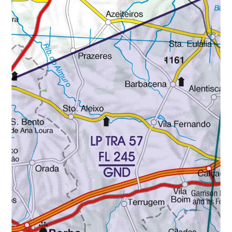 Portugal VFR Aeronautical Chart  TRA