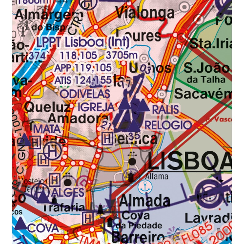 Portugal VFR Aeronautical Chart Airport Lisboa
