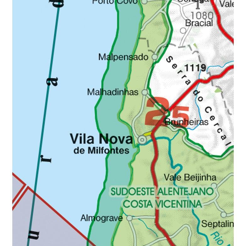 Portugal VFR Aeronautical Chart areas with sensitive fauna natural reserve