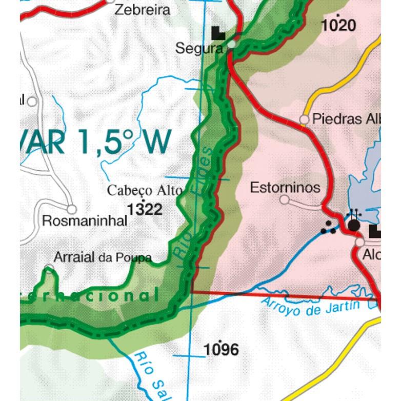 Portugal VFR Aeronautical Chart border crossing