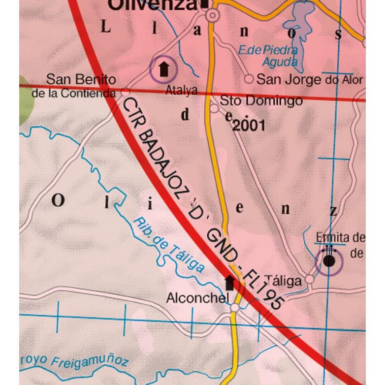 Portugal VFR Aeronautical Chart CTR control zone