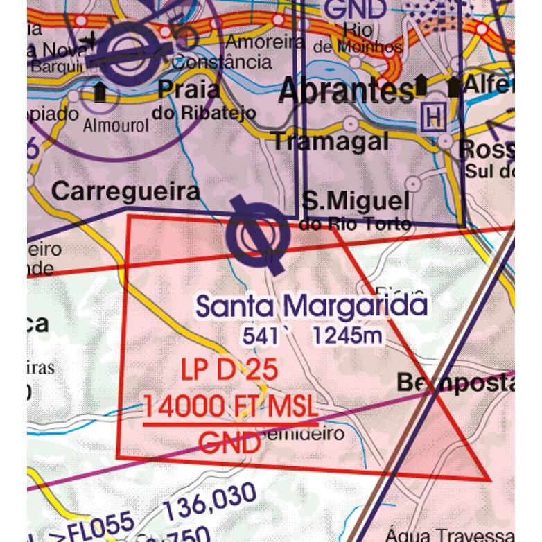 Portugal VFR Aeronautical Chart military aerodrome